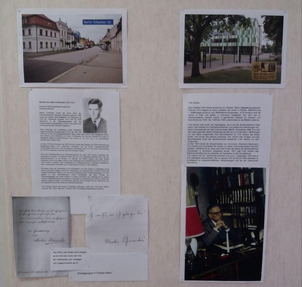 Informationstafel zur Themenreihe Gommeraner Persönlichkeiten